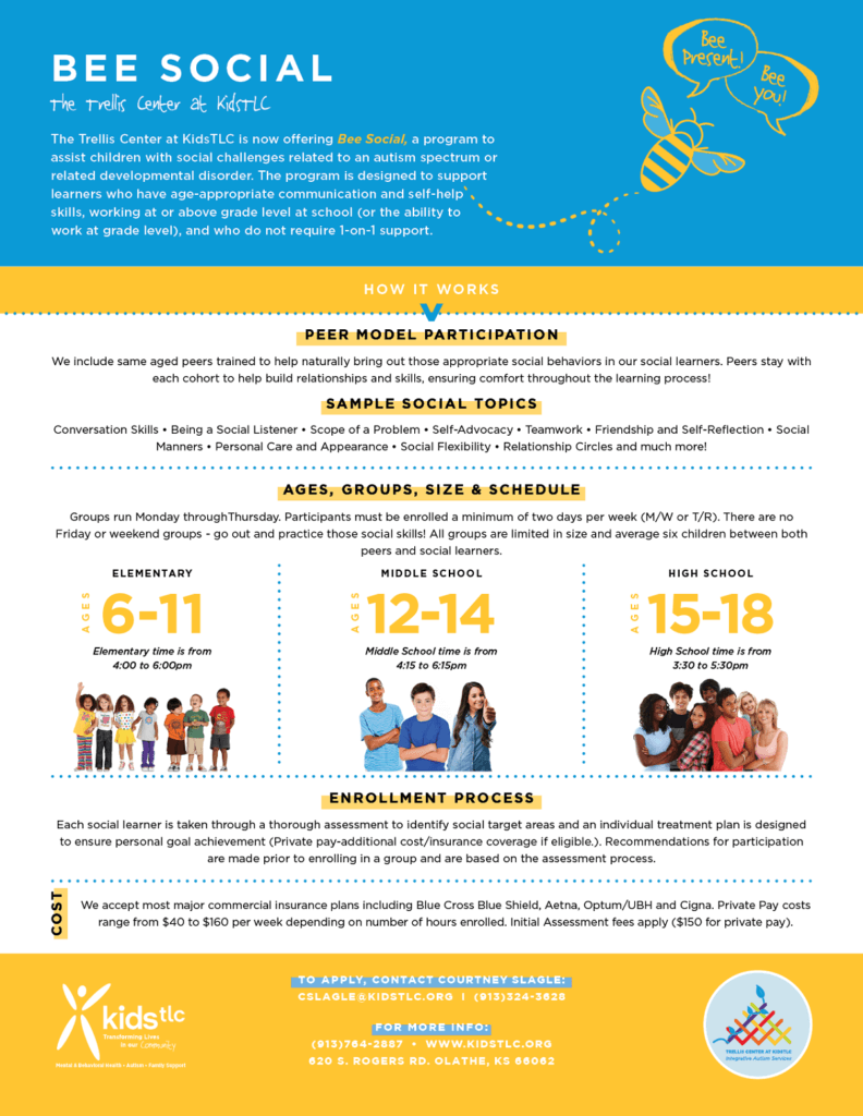 Bee Social, social sessions for kids with autism