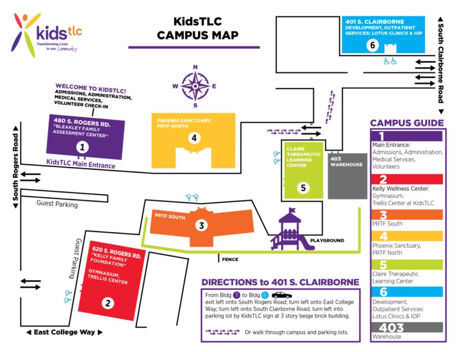 Kids TLC Campus Map