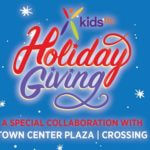 Kids TLC Holiday Giving logo: a special collaboration with Town Center Plaza
